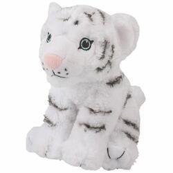 Tygr bílý plyš ECO, střední