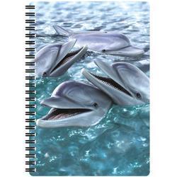 Notes 3D 14x21cm, 40l - delfíni