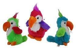 Papoušek plyš 22cm, 3dr