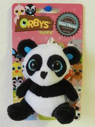 Klíčenka panda sedící plyš 8cm, velké oči