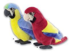 Papoušek plyš 28cm, 2druhy