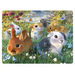 Pohlednice 3D 16cm - králíci (25)