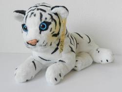 Tygr bílý ležící bokem plyš 30cm