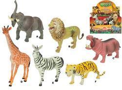 Zvířátka safari plast 15-20cm, 6dr (12)