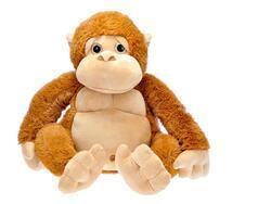 Opice plyšová 65cm sedící hnědá 0m+ v sáčku