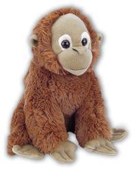 Orangutan sedící plyš 28cm