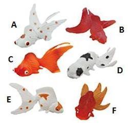 Zlaté rybky plast 7cm 6druhů