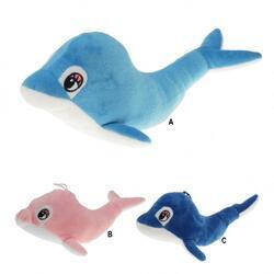 Delfín plyš 27cm 3barvy