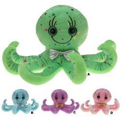 Chobotnice dětská plyš 30cm, 4druhy (4)