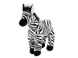 Zebra plyšová 28cm stojící 0m+ v sáčku