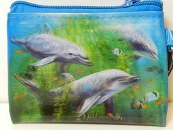 Kapsička 3D 11x8cm - delfíni v chaluhách (5)