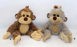 Opice sedící, plyš 35x22cm, 2druhy (12)