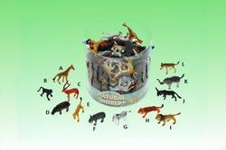 Safari zvířata plast 5cm, 12druhů (120ks/dóza)