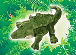 Krokodýl plyš 30cm speciál. oči
