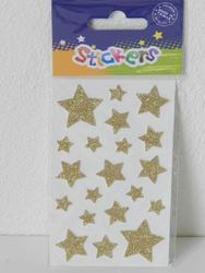 Samolepka 12x7,5cm zlaté hvězdy