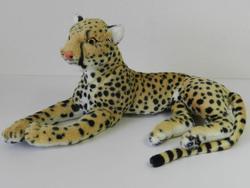 Gepard ležící bokem, plyš 40cm