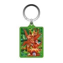 Klíčenka 3D 5x6cm - orangutani (10)