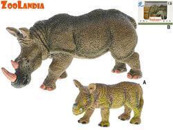 Zoolandia nosorožec/slon s mládětem 7-14cm v krabičce