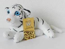 Tygr bílý ležící bokem plyš 20cm (130)