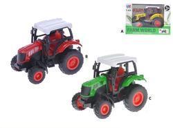 Traktor 9cm kov, zpětný chod, 3barvy (6)