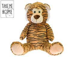 Tygr plyšový 59cm sedící 0m+(4ks/bal)