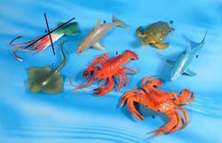 Zvířata moře plast 15cm, 7druhů (96)