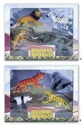 Safari plast set 4ks, 2druhy(18) (28x22cm)