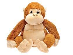 Opice plyšová 50cm sedící 0m+ hnedá v sáčku