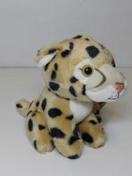 Gepard sedící, plyš 14cm(6) - 2