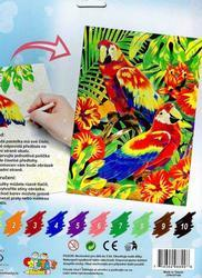 Malování pastelkami (papoušek, rybičky) - 2
