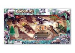 Dino set 2vozidla+8ks dino+strom - 2