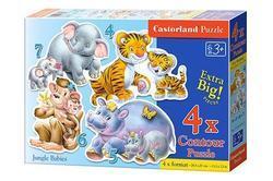 Puzzle zvířátka pro nejmenší děti (sada 4,5,6 a 7dílků) - 2