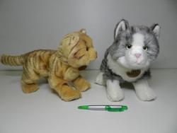 Kočka plyš 28cm stojící,(600607) - 2