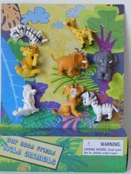 Zvířátko safari plast 6cm set 8ks na kartě(24) - 2