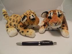 Leopard hnědý plyš měkký ležící 20cm (130/karton) - 2