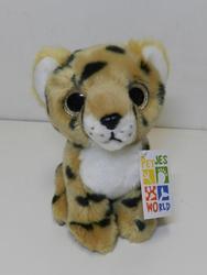 Gepard sedící, velké oči, plyš 20cm - 2