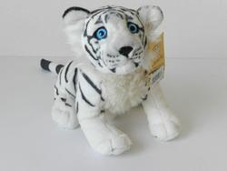 Tygr bílý sedící plyš 30cm - 2